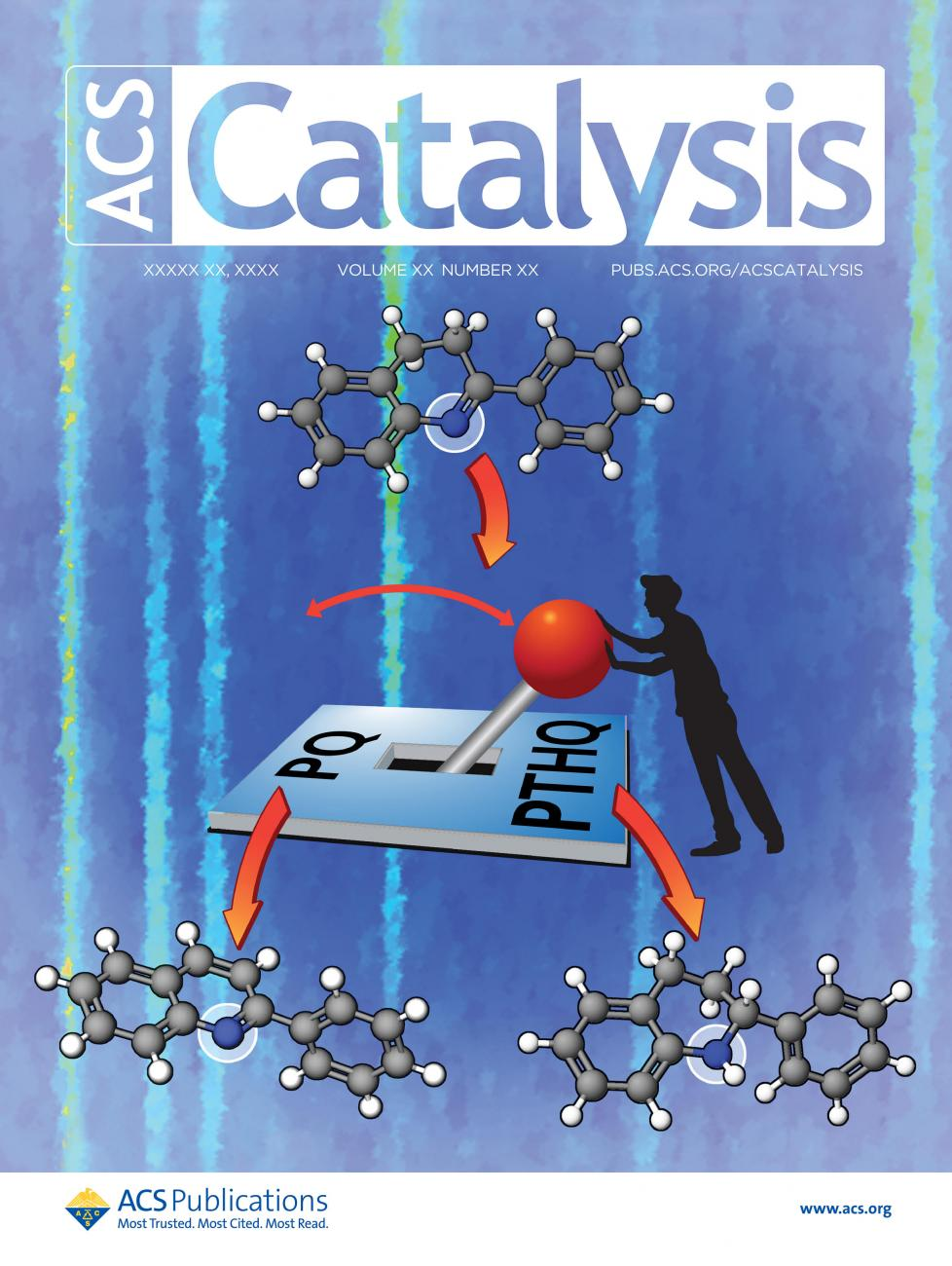 Cover of Catalysis journal featuring Ames Lab research