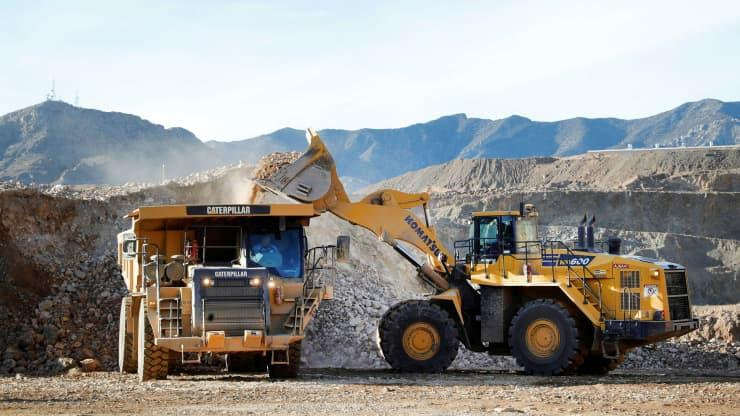 Ore operations at MP Materials rare earth mine