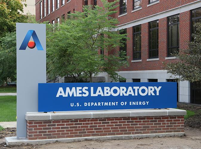 Ames Laboratory sign
