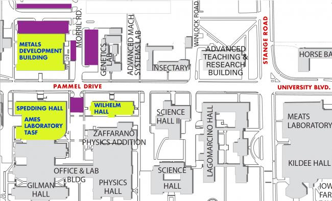 Ames Lab parking map